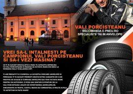 E-PNEU.ro impreuna cu Campionul Vali Porcisteanu la Romania Rally Challenge 17-19 iulie 2017